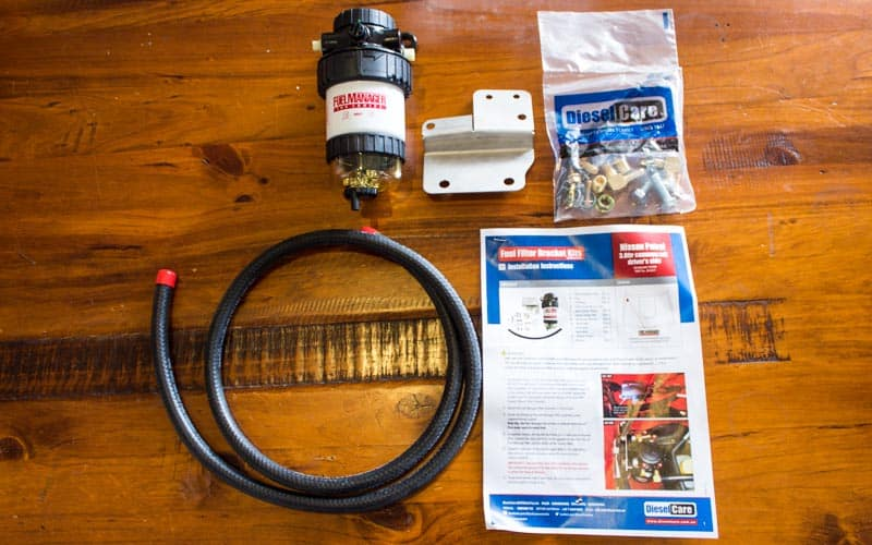 Diesel Care Filter Kit Contents